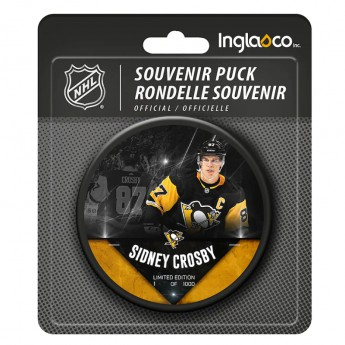 Pittsburgh Penguins krążek Sidney Crosby #87 Exclusive Player Hockey Puck - Limited Edition of 1000