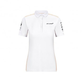 McLaren Honda damska koszulka polo White F1 Team 2021