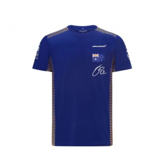 McLaren Honda koszulka męska Ricciardo Blue F1 Team 2021