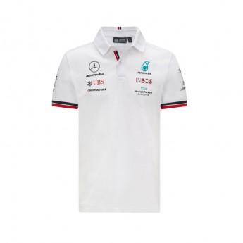 Mercedes AMG Petronas męska koszulka polo White F1 Team 2021