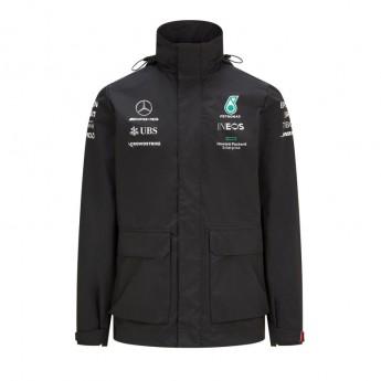 Mercedes AMG Petronas męska kurtka z kapturem Rain Black F1 Team 2021