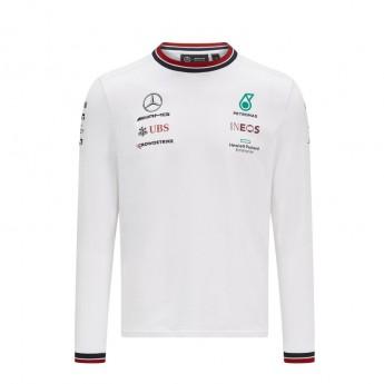 Mercedes AMG Petronas męska koszulka z długim rękawem White F1 Team 2021