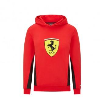 Ferrari dziecięca bluza z kapturem PUMA sweatshirt logo red F1 Team 2021