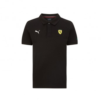 Ferrari dziecięca koszulka polo Classic PUMA Black F1 Team 2021