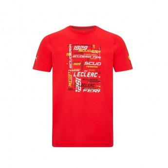 Ferrari koszulka męska Leclerc Driver PUMA Red F1 Team 2021