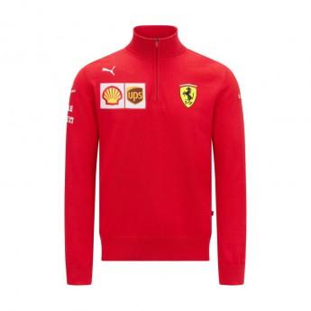 Ferrari bluza męska Zip Sweatshirt PUMA Red F1 Team 2021