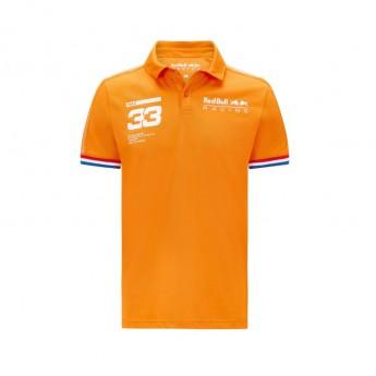 Red Bull Racing męska koszulka polo Verstappen Orange F1 Team 2021
