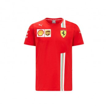 Ferrari koszulka męska Sainz red F1 Team 2021