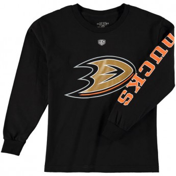 Anaheim Ducks dziecięcka koszulka z długim rękawem black Old Time Hockey Two Hit Long Sleeve
