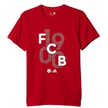 Bayern Monachium czerwony t-shirt męski GR GO