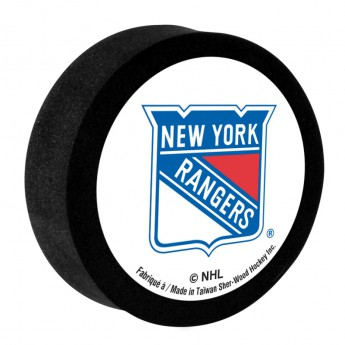New York Rangers krążek do hokeja z pianki white Sher-Wood
