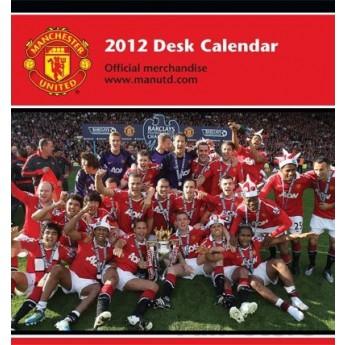 Manchester United kalendarz biurkowy 2012