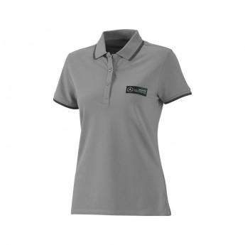 Koszulka polo damska Classic grey Mercedes AMG Petronas F1 Team