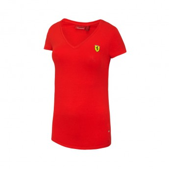 Ferrari T-shirt damski V-neck red F1 Team 2016