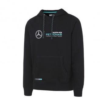 Bluza męska z kapturem czarna Mercedes AMG Petronas F1 2016