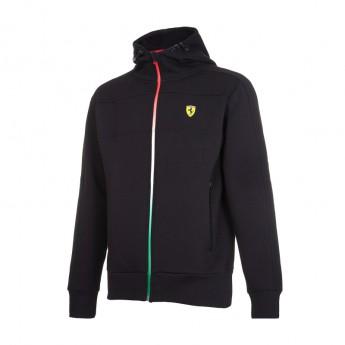 Ferrari męska bluza z kapturem Tricolore black F1 Team 2017