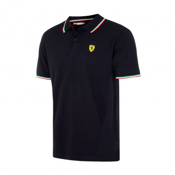 Scuderia Ferrari koszulka polo męska Tricolore czarne F1 Team 2017