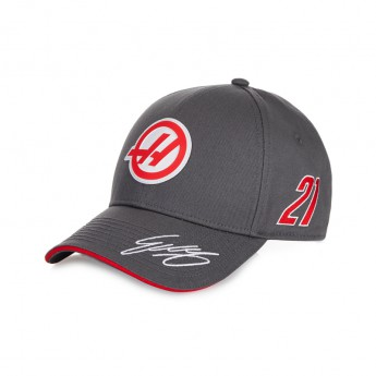 Czapka baseballowa Grosjean Haas F1 Team 2017