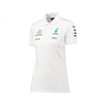 Polo damskie białe Mercedes AMG Petronas F1 Team 2017