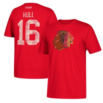Chicago Blackhawks T-shirt męski #16 Bobby Hull Retired