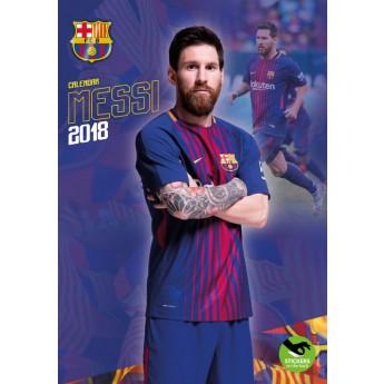 Lionel Messi kalendarz 2018 (29 x 42cm) + 12 naklejek