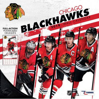 Chicago Blackhawks kalendarz 2018 Team Wall