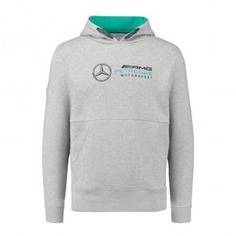 Bluza męska z kapturem szara Mercedes AMG Petronas F1 2018