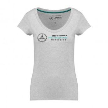 Mercedes AMG Petronas koszulka damska Logo grey F1 Team 2018