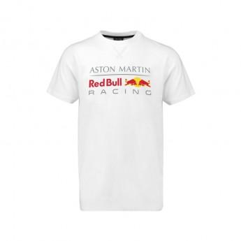 Koszulka T-shirt męska Large Logo biała Red Bull Racing 2018