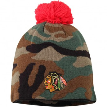 Chicago Blackhawks czapka zimowa Camo Cuffless Knit Beanie With Pom