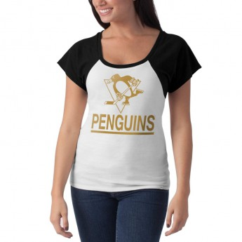 Pittsburgh Penguins T-shirt damski Big Time Slim Fit Raglan T-Shirt