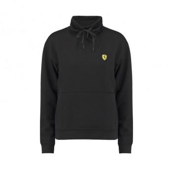 Ferrari damska bluza z kapturem Funnel Neck black F1 Team 2018