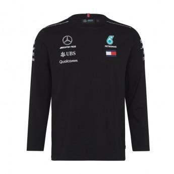 Koszulka męska Longsleeve czarna Mercedes AMG Petronas F1 Team 2018