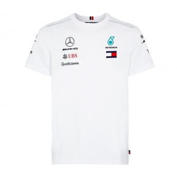 Koszulka męska T-shirt biała Mercedes AMG Petronas F1 Team 2018