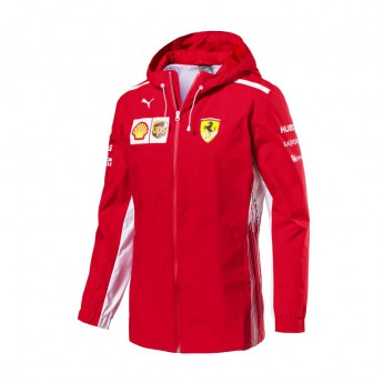 Ferrari męska kurtka z kapturem Rain red F1 Team 2018
