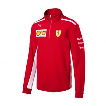 Bluza męska Half Zip czerwona Scuderia Ferrari F1 Team 2018