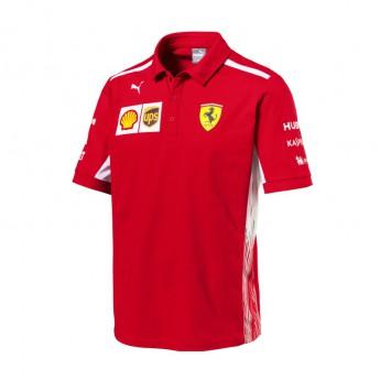 Koszulka Polo męska czerwona Scuderia Ferrari F1 Team 2018