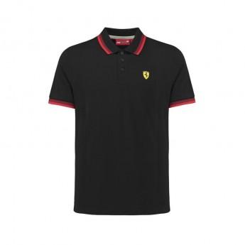 Koszulka polo męska Scuderia Collar czarna Ferrari F1 Team 2018
