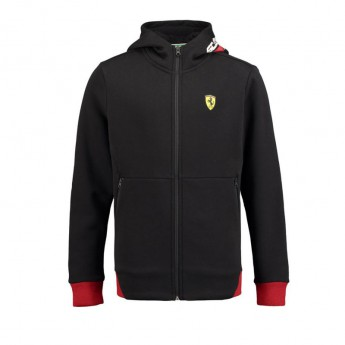 Ferrari dziecięca bluza z kapturem black F1 Team 2018