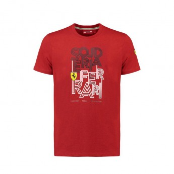 Koszulka T-shirt męska czerwona Track Scuderia Ferrari F1 Team 2018