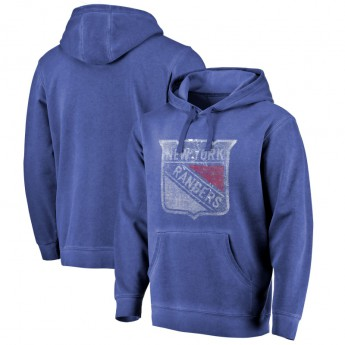 New York Rangers męska bluza z kapturem blue Shadow Washed Logo