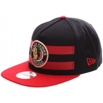 Chicago Blackhawks czapka flat baseballówka Double Stripe Snapback