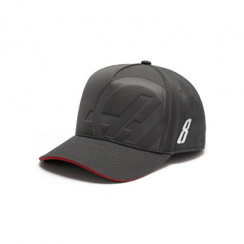 Czapka Baseballowa Grosjean szara Haas F1 Team 2018