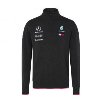 Bluza męska szara Half Zip Mercedes AMG Petronas F1 Team 2018