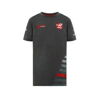 Koszulka T-shirt dziecięca szara Haas F1 Team 2018
