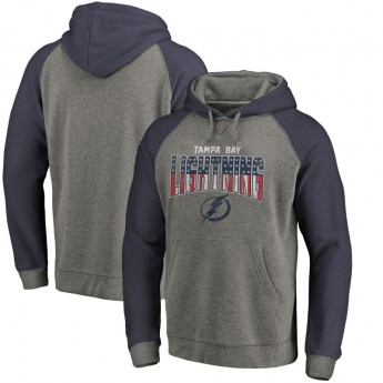 Tampa Bay Lightning męska bluza z kapturem grey Freedom Tri-Blend Raglan