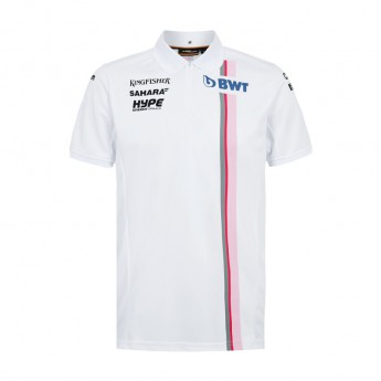 Foce India F1 męska koszulka polo white Sahara F1 Team 2018