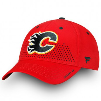 Calgary Flames czapka baseballówka red 2018 NHL Draft Flex
