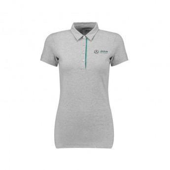 Mercedes AMG Petronas damska koszulka polo grey Classic F1 Team 2018
