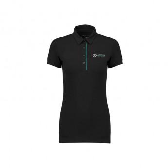 Mercedes AMG Petronas damska koszulka polo black Classic F1 Team 2018
